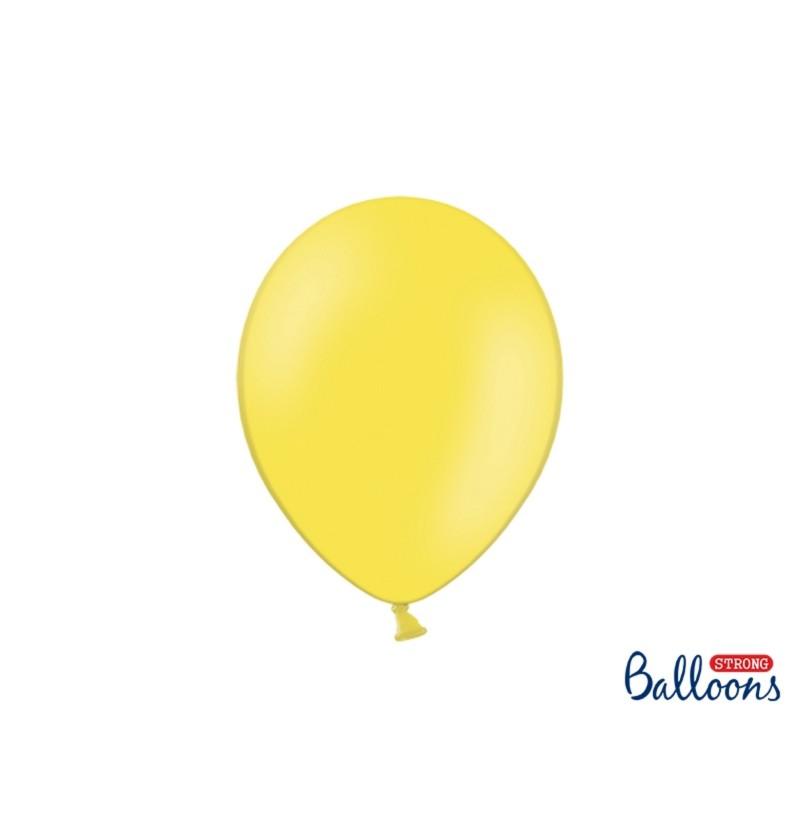 Set de 50 globos extra resistentes amarillo pastel