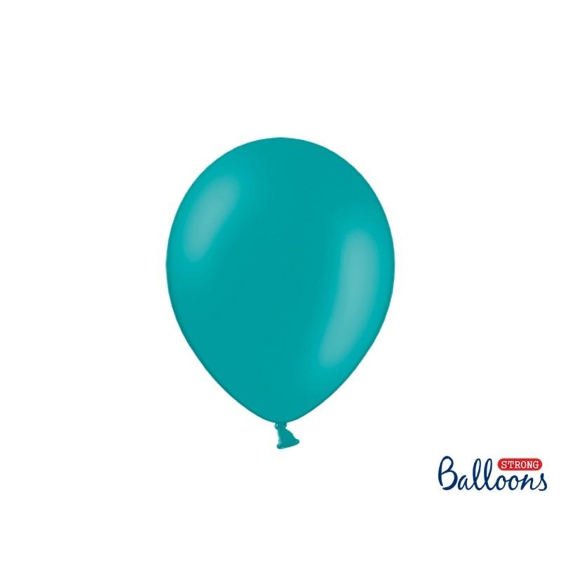 Set de 10 globos extra resistentes azul cielo metalizado