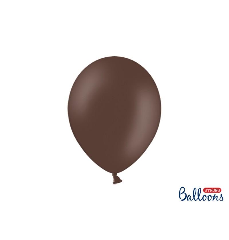 Set de 100 globos extra resistentes marrón oscuro metalizado