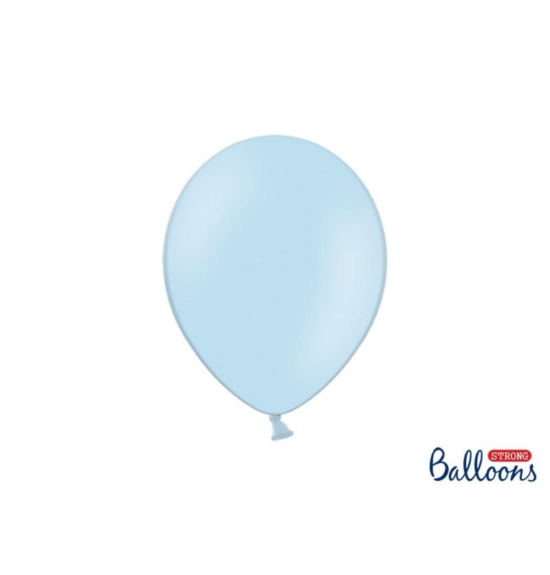 Set de 50 globos extra resistentes 27 cm azul pastel