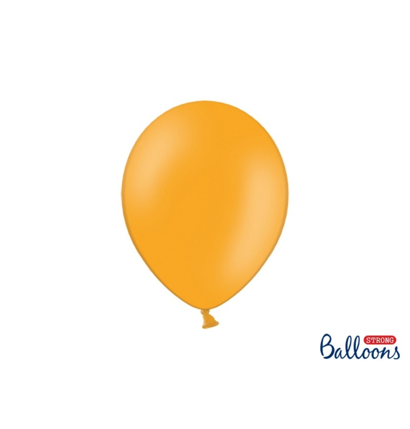 Set de 10 globos extra resistentes naranja claro metalizado