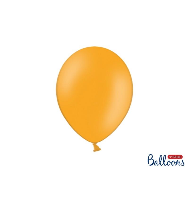 Set de 100 globos extra resistentes naranja claro metalizado