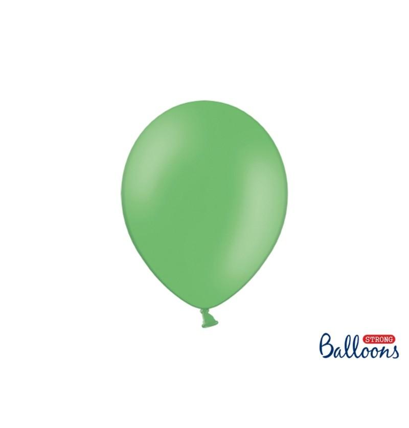 Set de 50 globos extra resistentes verde pastel metalizado