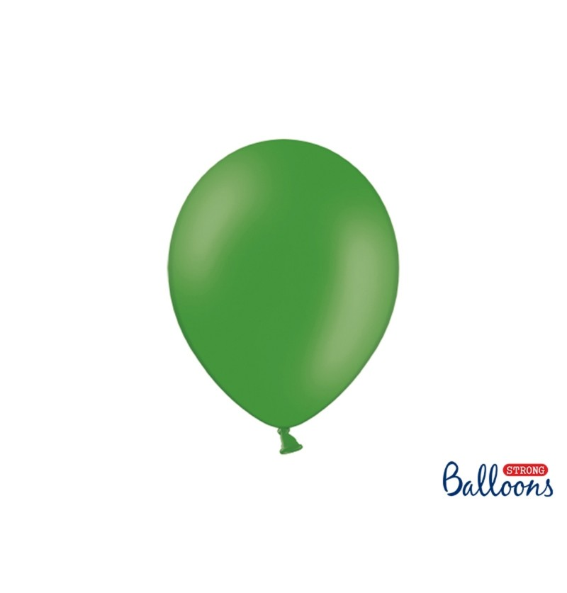Set de 100 globos extra resistentes verde esmeralda metalizado