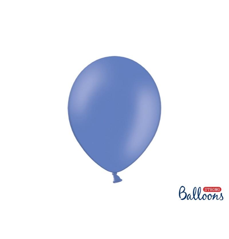 Set de 10 globos extra resistentes azul marengo metalizado