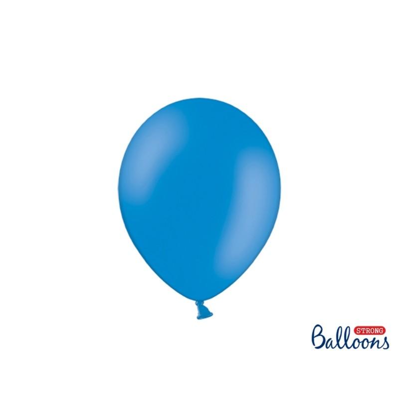 Set de 10 globos extra resistentes 27 cm azul semiclaro pastel metalizado