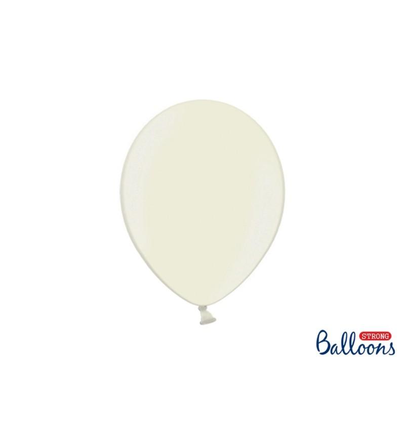 Set de 10 globos extra resistentes beige metalizado