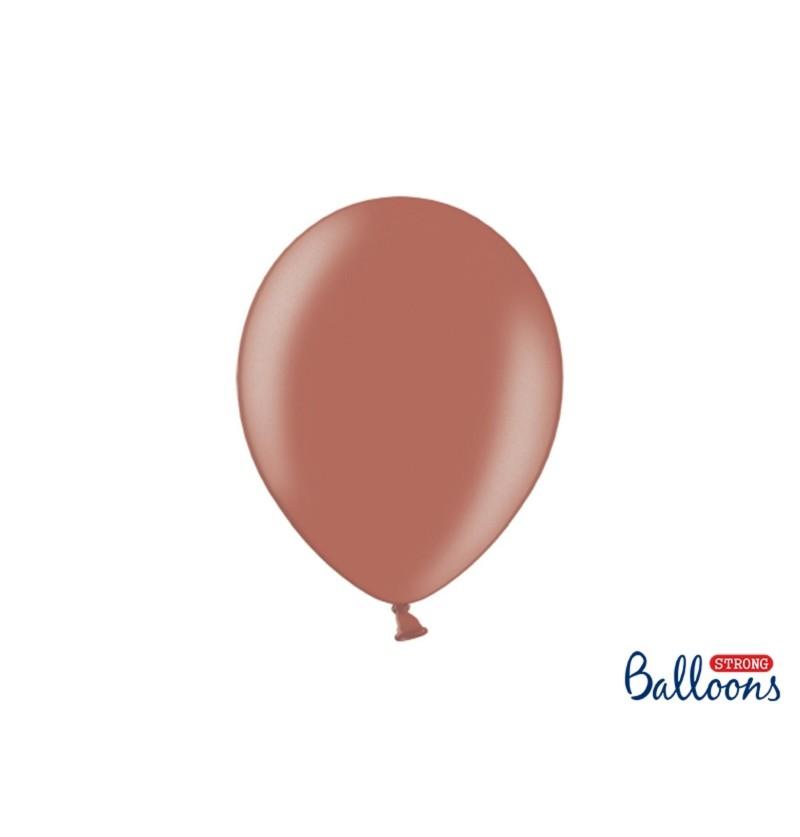 Set de 50 globos extra resistentes marrón tierra metalizado