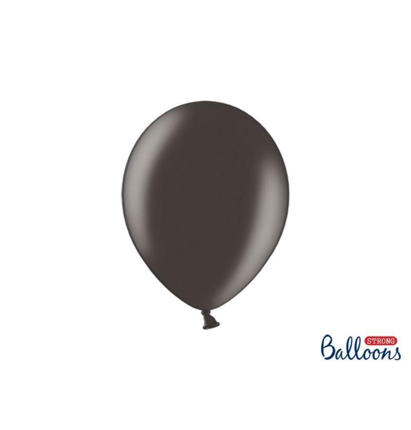 Set de 100 globos extra resistentes negro metalizado
