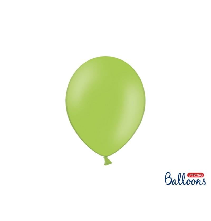 Set de 100 globos extra resistentes verde brillante metalizado