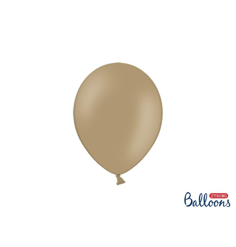 Set de 100 globos extra resistentes marrón claro metalizado