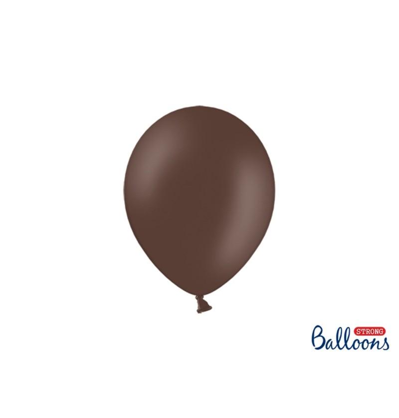 Set de 50 globos extra resistentes extra resistentes marrón oscuro metalizado