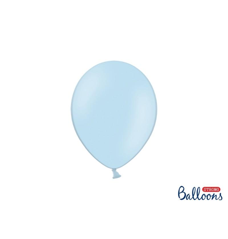 Set de 100 globos extra resistentes 23 cm azul pastel