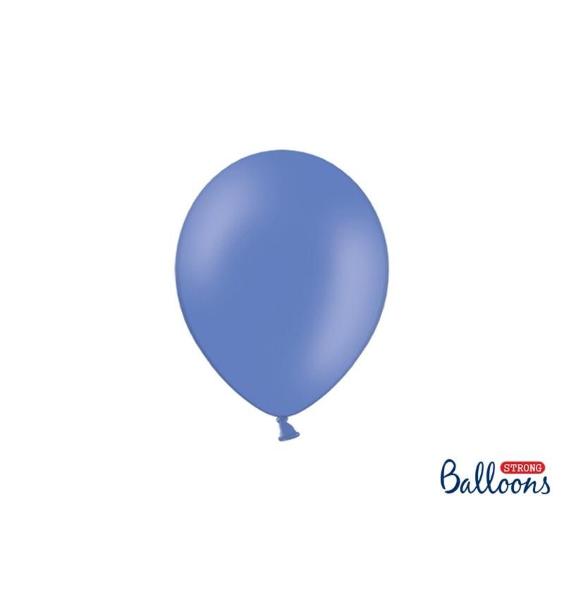 Set de 100 globos extra resistentes 23 cm azul marengo metalizado