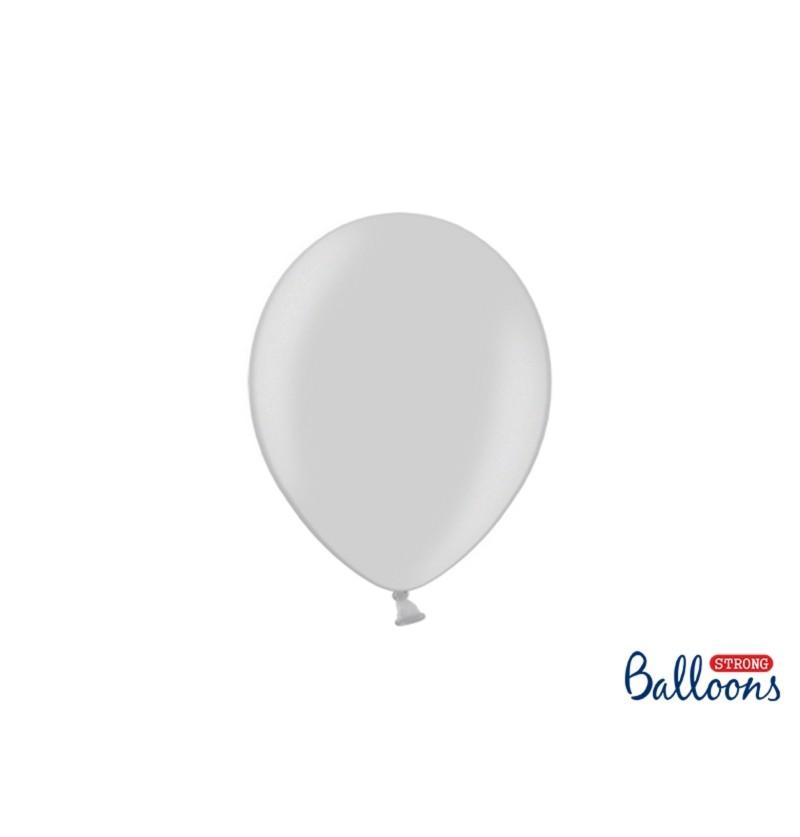 Set de 50 globos extra resistentes extra resistentes gris brillante