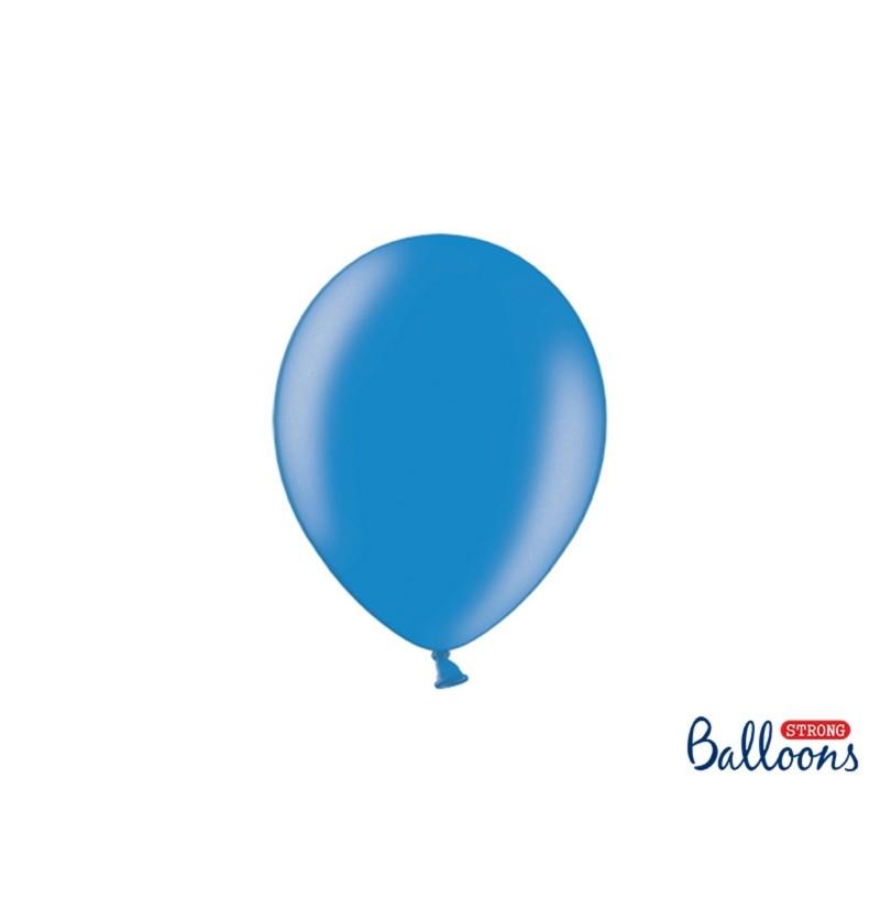 Set de 50 globos extra resistente 23 cm azul semiclaro metalizado