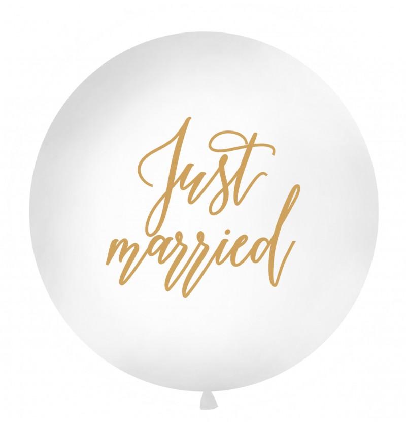"Globo gigante ""Just Married"" blanco"