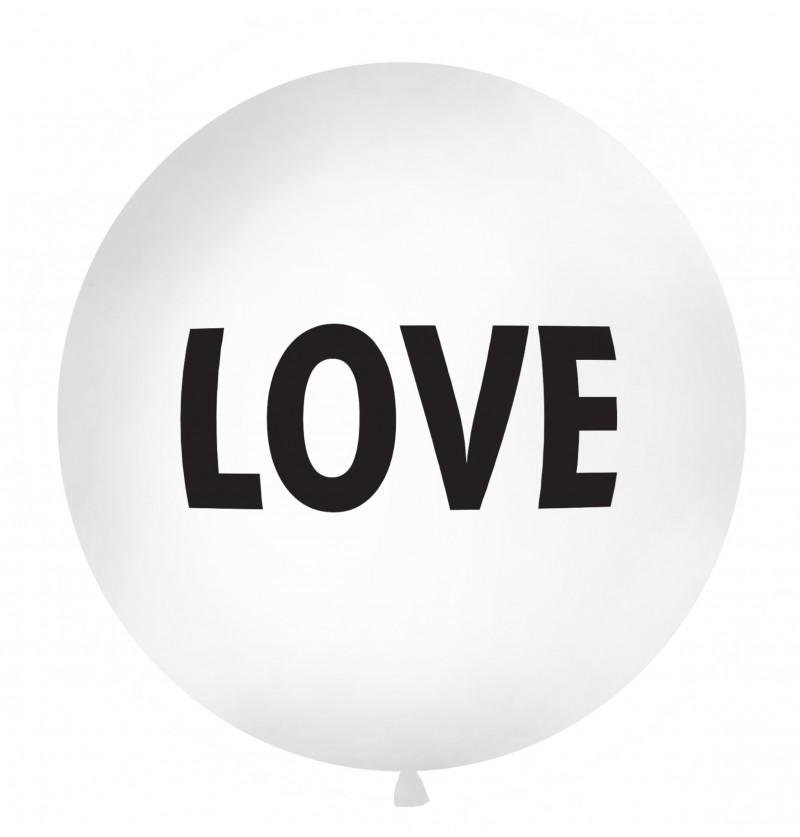 """Globo gigante """"LOVE"""" blanco"""