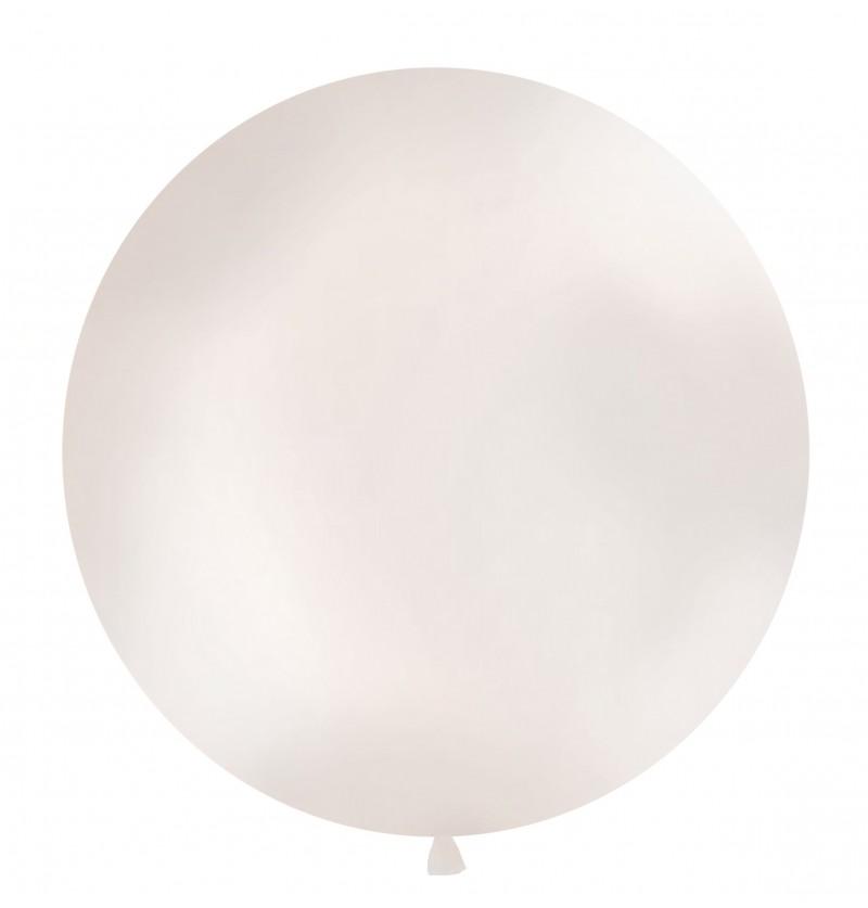 Globo gigante color perla metalizado