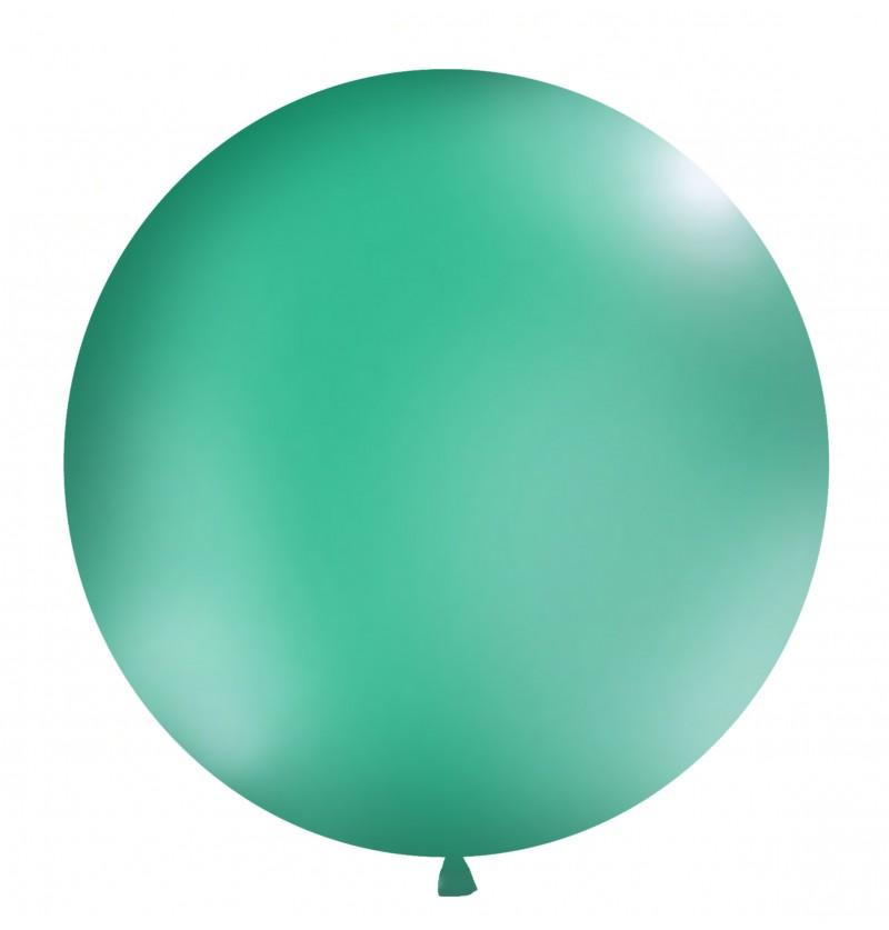 Globo gigante verde boque pastel
