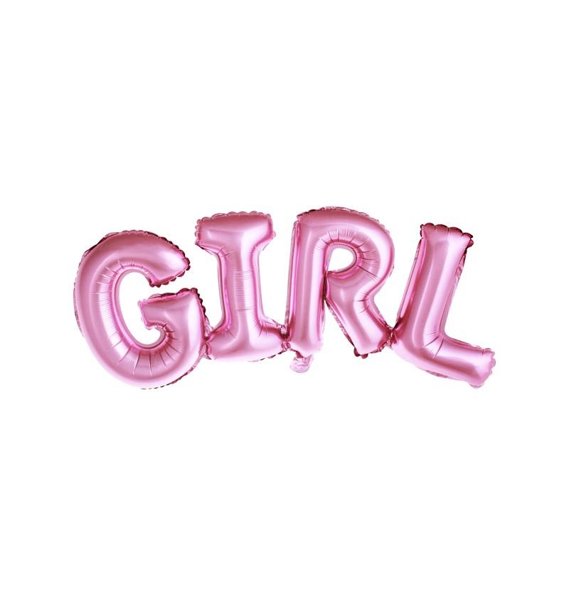 """Globo foil """"GIRL"""" rosa"""