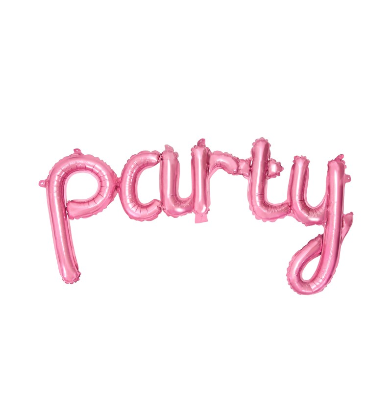 "Globo foil ""Party"" rosa"