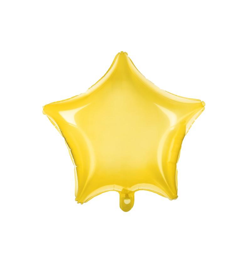 Globo de foil con forma de estrella amarillo
