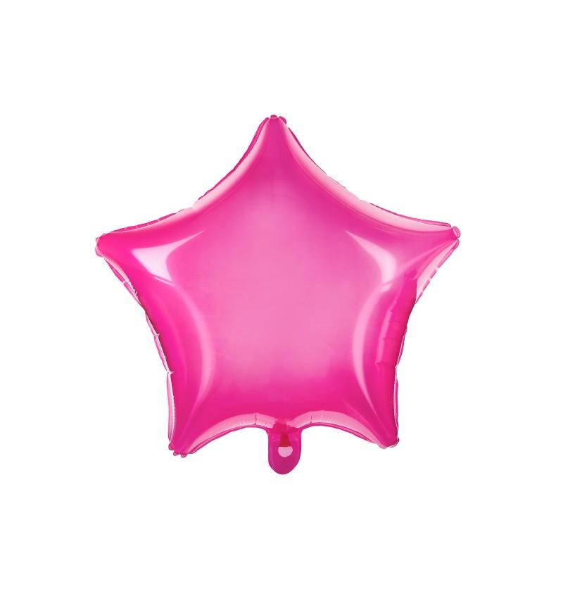Globo de foil con forma de estrella rosa