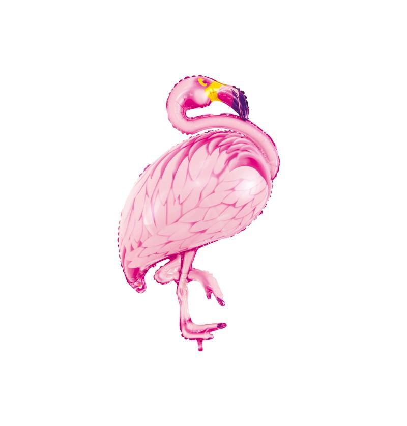 Globo de foil flamenco rosa