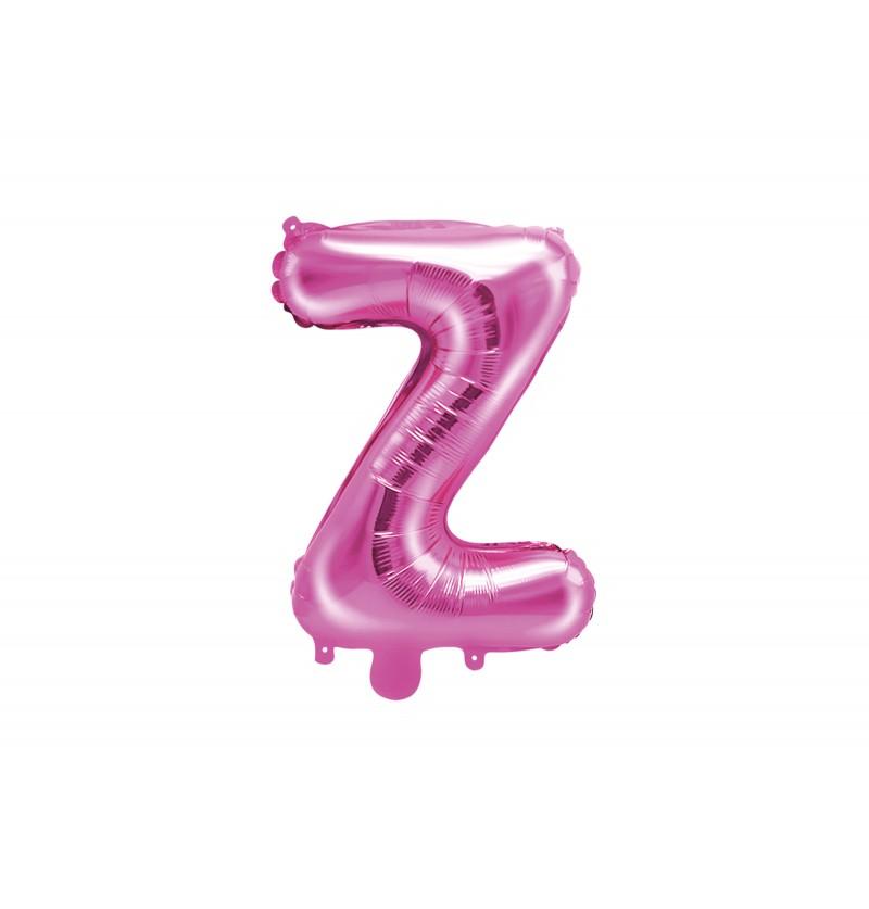 Globo foil letra Z rosa oscuro