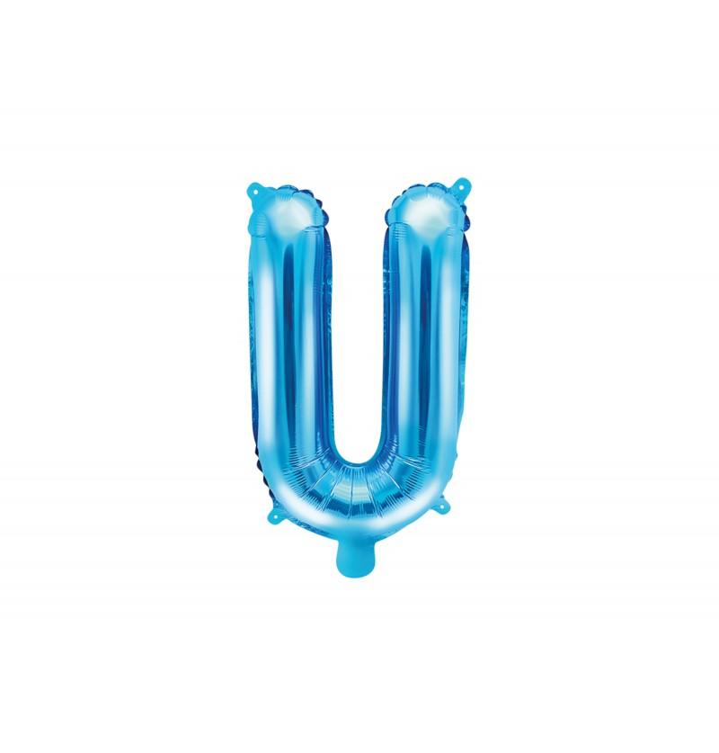 Globo foil letra U azul