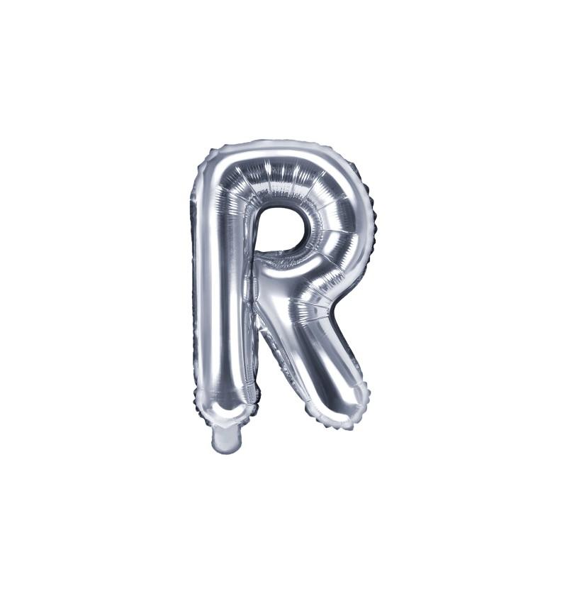 Globo foil letra R plateado