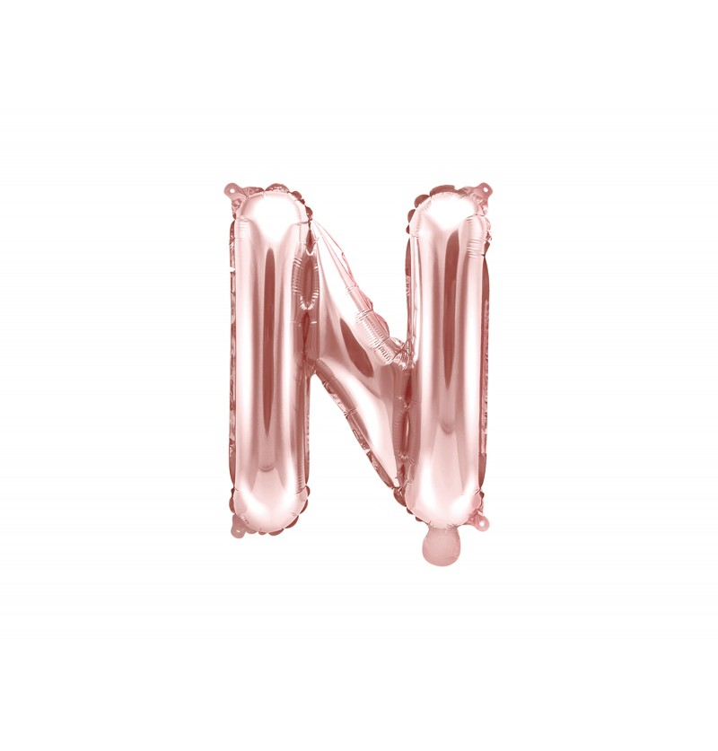 Globo foil letra N rosa dorado