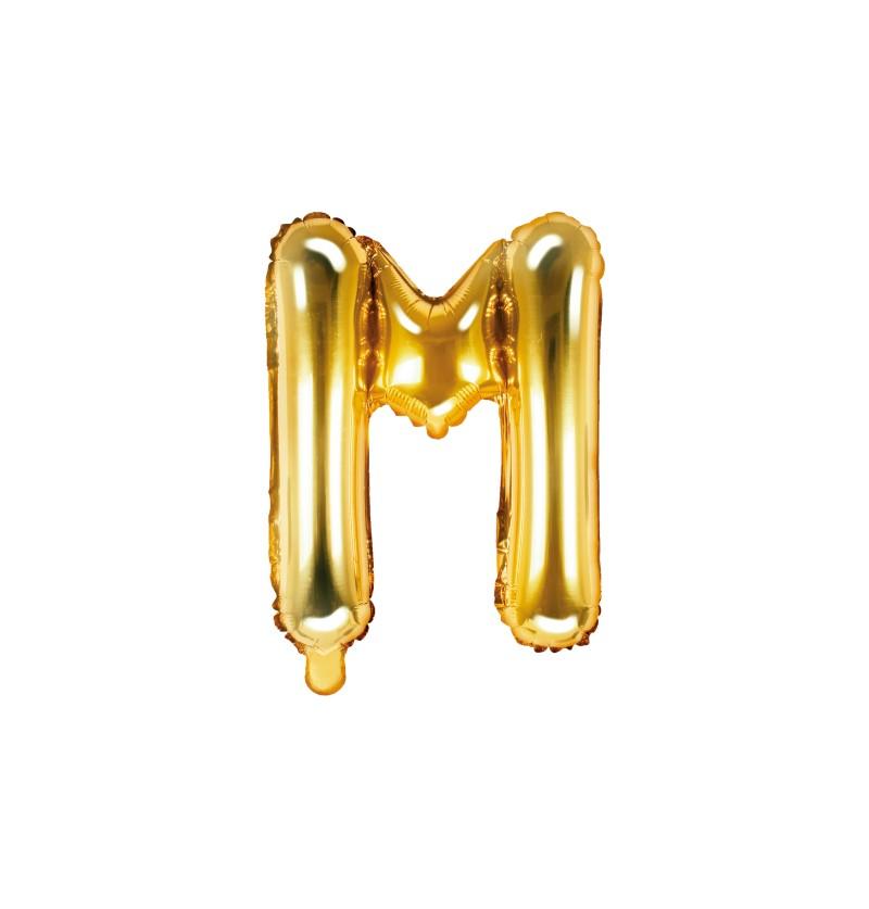 Globo foil letra M dorado