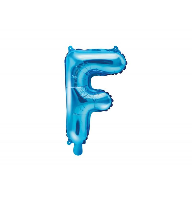 Globo foil letra F azul