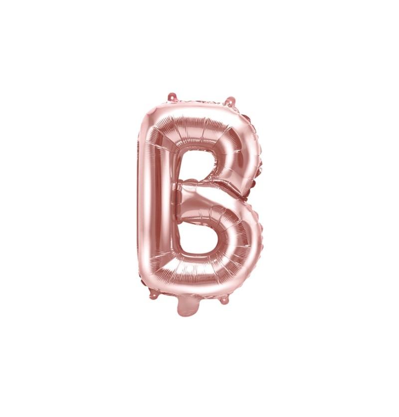 Globo foil letra B rosa dorado