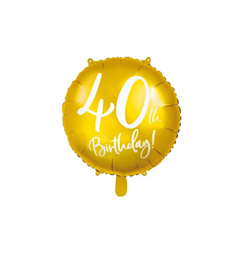 "Globo foil ""40"" dorado"