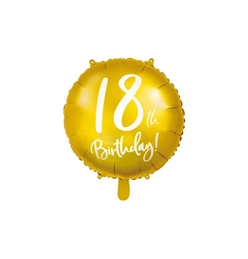 "Globo foil ""18"" dorado"