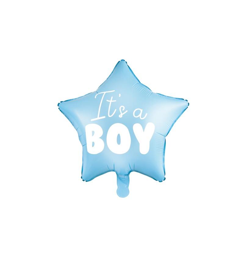 """Globo de foil con forma de estrella """"It's a boy"""""""