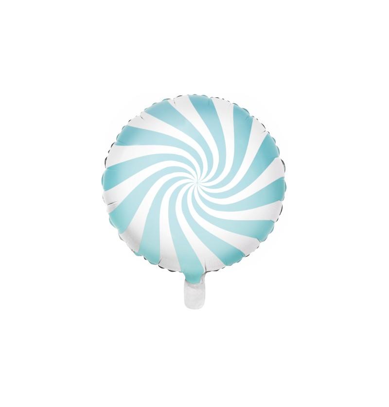 Globo de foil con forma de balón azul claro