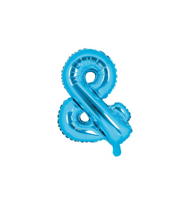 Globo foil ampersand azul