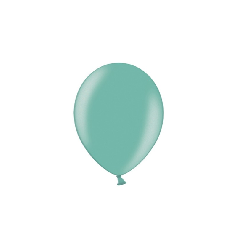 Set de 100 globos color menta de 23 cm