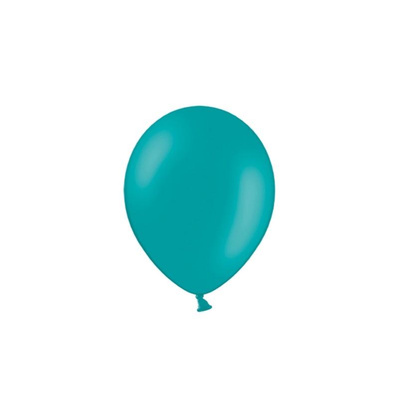 Set de 100 globos color azul turquesa de 23 cm