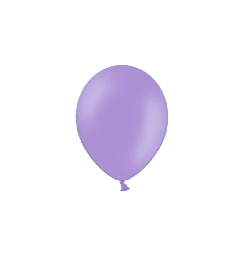 Set de 100 globos color violeta de 23 cm