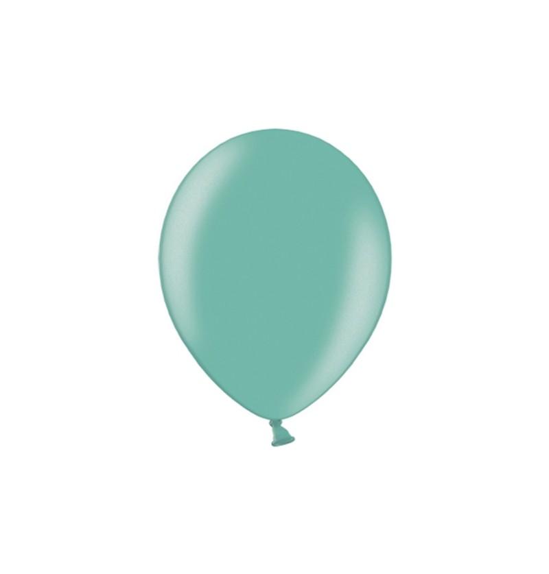 Set de 100 globos color verde menta fuerte de 29 cm