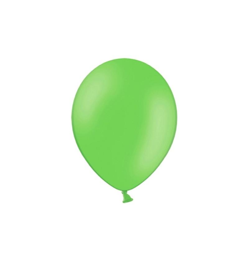 Set de 100 globos color verde manzana de 29 cm