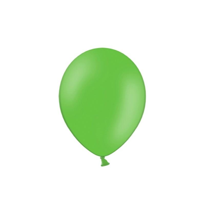 Set de 100 globos color verde suave de 29 cm
