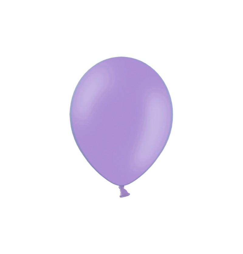 Set de 100 globos color violeta de 29 cm