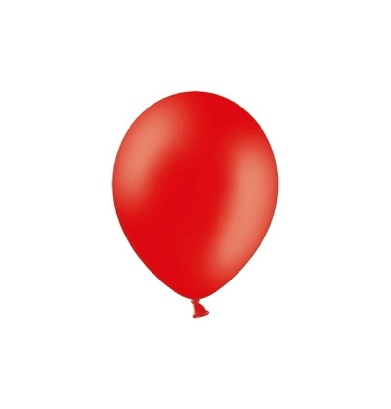 Set de 100 globos color rojo fuerte de 29 cm