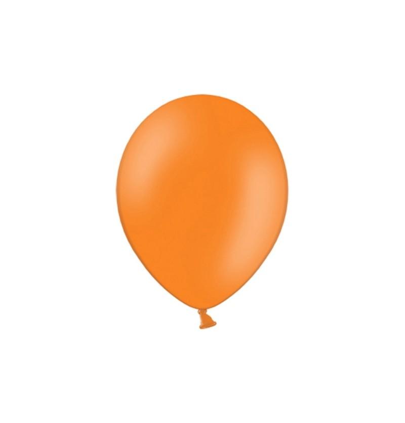 Set de 100 globos color naranja oscuro de 29 cm